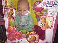 Кукла пупс Baby Born в одежке с бантиком 4