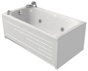 Акриловая ванна Bisante НИКА 1200х700х550 мм