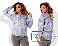 Красивая   каттоновая блузка с 50 по 58 размер