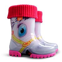 Детские резиновые сапоги Demar Twister Lux Пони р.20-35 для юных модниц