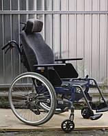 Коляска инвалидная складная активная с мягким креслом и подголовником 47см