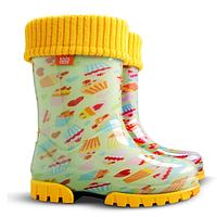 Детские резиновые сапоги Demar Twister Lux Кексы р.20-35 для юных модниц