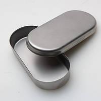 СТАЛЕКС Лоток с крышкой из нерж. стали для фрез  90х40х15 мм