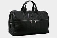 Дорожная кожаная сумка мужская черная