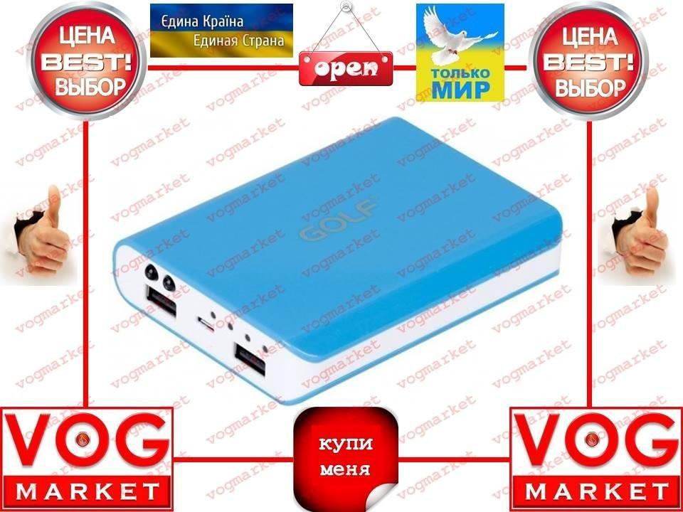 Внешний аккумулятор Golf GF-804 10400 mAh голубой