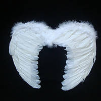 Крылья ангела Средние белые (перо)