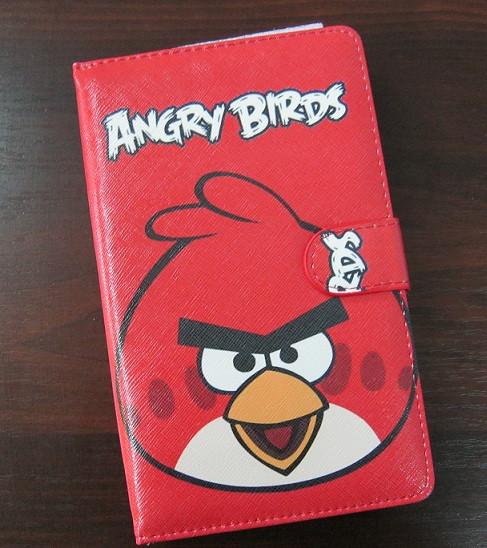 Чехол с клавиатурой к планшетам 7 Usb Angry Birds красный