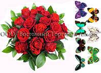 Печать съедобного фото - Формат А4 - Сахарная бумага - Букет красных роз