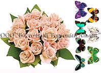 Печать съедобного фото - Формат А4 - Вафельная бумага - Букет белых роз