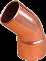 Медный однораструбный полуотвод 45° IBP (Conex Banninger) - 89 мм.