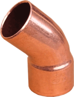 Медный однораструбный полуотвод 45° IBP (Conex Banninger) - 76 мм.