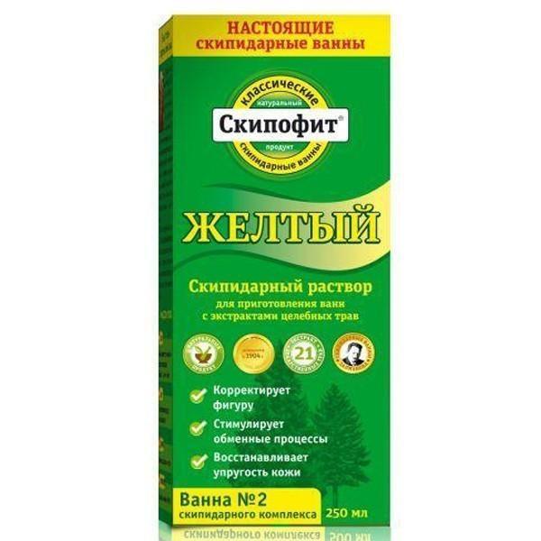 """Скипофит """"Желтая"""" скипидарная эмульсия для ванн, 0,25л. - Антиоксидантное действие (Натуротерапия)"""