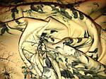 Джинс ткань белый с фотопечатью , лилии, фото 6