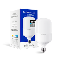 Лампа светодиодная высокомощная GLOBAL 50W 6500K E27/E40 ХОЛОДНЫЙ СВЕТ(1-GHW-006-3)