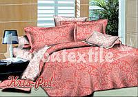 Комплект двуспального постельного белья поплин коралл