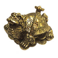 "Статуэтка ""Драконья черепаха со скипетром жуи на монетах"""