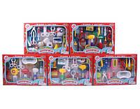 """Доктор """"Аптечка """" 2554 5 видов, 22 дет., очки, ножницы, шприцы, бутылочки, коробочки, молоточки, кор."""