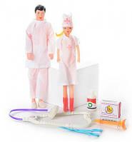 Семья Доктор 2208 (2 куклы), 27х15 см
