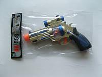 Пистолет музыкальный AK-968 батар., в пакете