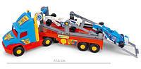 Игрушечный Перевозчик 36620 Wader Super Truck, эвакуатор с авто Формула