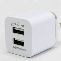 USB x2 зарядное 220v 5v 2.1А для телефона планшета