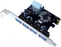 PCIe USB3.0 VLI xHCI Контроллер 4 порта