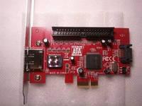 PCIe контроллер eSATA II SATA II  IDE Raid