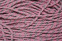 Канат декоративный 5мм (50м) св.розовый+серебро , фото 1