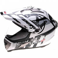 Кроссовый шлем LS2 MX433 Stripe Visor White