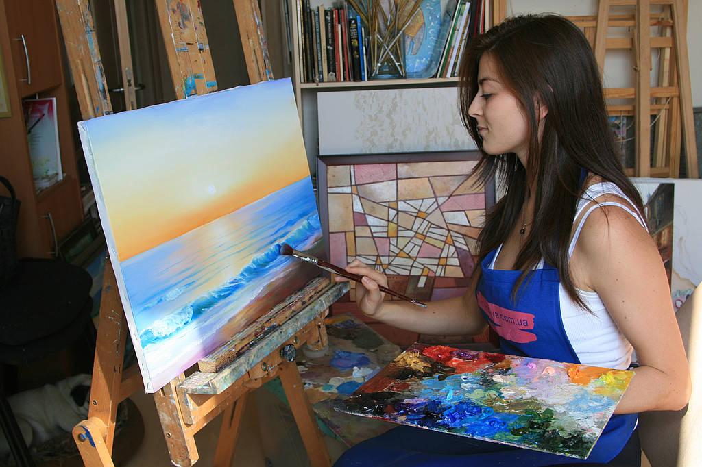 Уроки живописи масляными красками для взрослых в Киеве