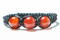 Мужской плетеный браслет из сердолика