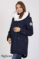 Куртка-парка для беременных Inira, утепленная, темно-синяя, фото 1