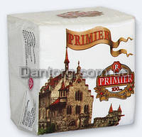 Салфетка бумажная PRIMIER (Примьер) 24*24 100л белая