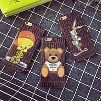 """Iphone 6/6s 4.7 оригинальный чехол панель бампер накладка TPU для телефона  """" Moschino """""""