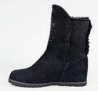Зимние замшевые ботинки Polann стильная модель