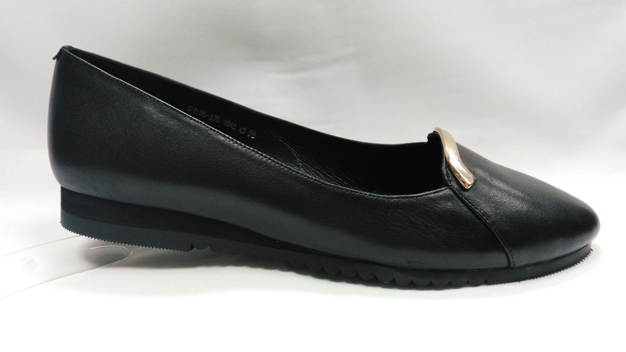 Туфлі шкіряні Erisses на низькому каблуці, великі розміри