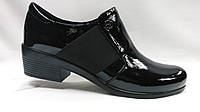Черные  кожаные туфли Erisses, больших размеров