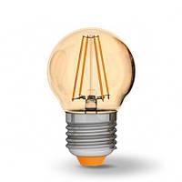 LED лампа Filament светодиодная VIDEX G45FA 4W E27 2200K 220V бронза