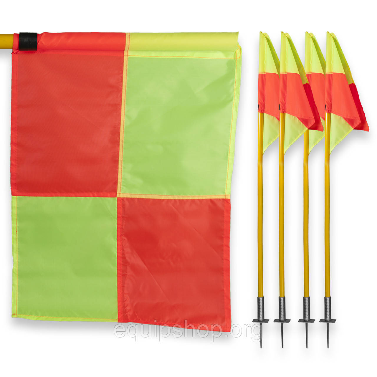 Флаги угловые для футбольного поля (комплект 4 шт)