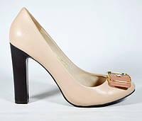 Туфли женские бежевые BASCONI модная модель c1f929aa53ac3