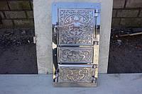 Дверь Спарка для печей  (ПР) (мет.+ал.литье+нерж) 420х205