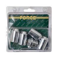 Набор секреток на литые диски 5 предметов, М12 х 1.5RH Force