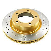 Тормозной диск DBA 2736X  X-GOLD передний для Toyota TLC150/FJ 10+