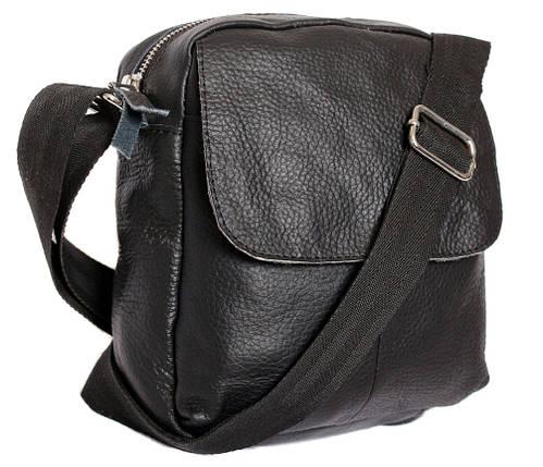 d444762e48b7 Небольшая мужская кожаная сумка через плечо черная купить в Киеве в ...