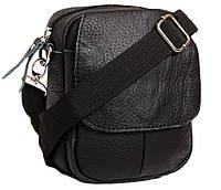 90221c831a69 Киев. Компактная мужская кожаная сумка на пояс и через плечо черная