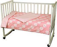 """Детский постельный набор в кроватку """"Клеточка"""" ТМ """"РУНО"""", фото 1"""