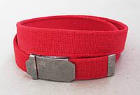 Красный тканевый ремень , фото 1