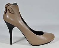 Туфли женские на шпильке Marinety натур.кожа