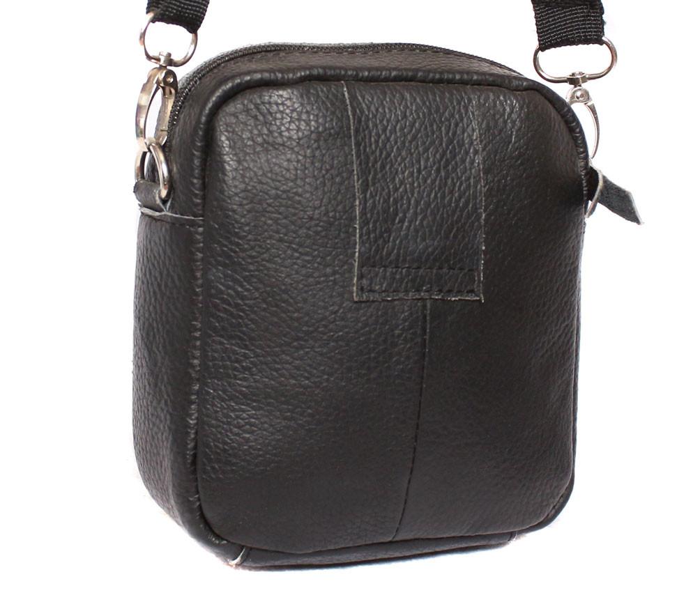 879b173345cc Компактная мужская кожаная сумка на пояс и через плечо черная, цена 465  грн., купить в Киеве — Prom.ua (ID#364076123)