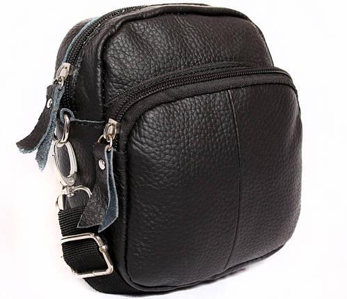 ebd66cb6fa07 Компактная мужская кожаная сумка на пояс и через плечо черная купить ...